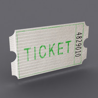 3d model paper ticket