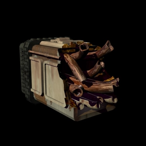 decaying debris 3d model