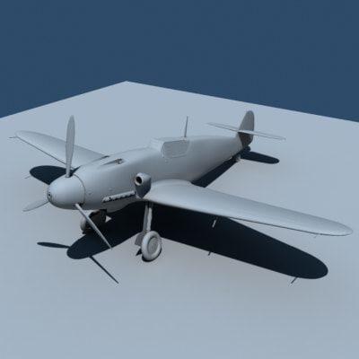 ww2 air fighter 3d model