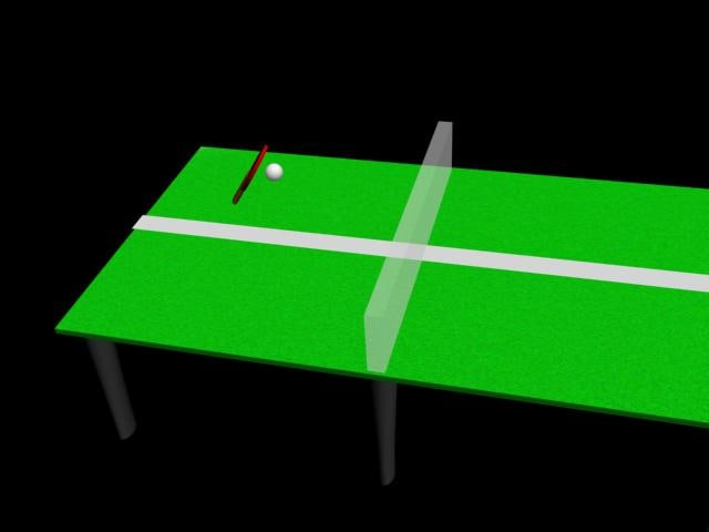 3d model ping-pong table paddle