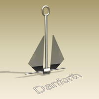 3d danforth anchor