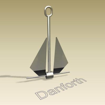 3d danforth anchor