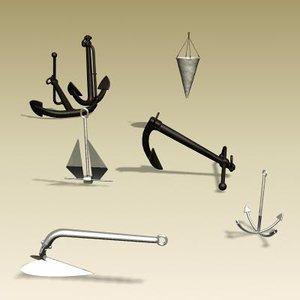 3d model anchor ancoras