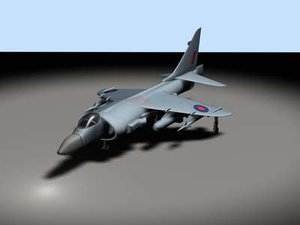sea harrier fa jump jet 3d model