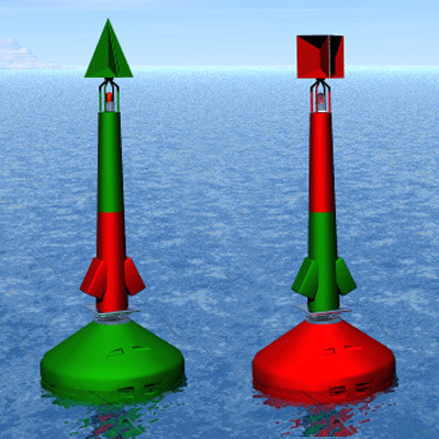 3d model buoys boias canal