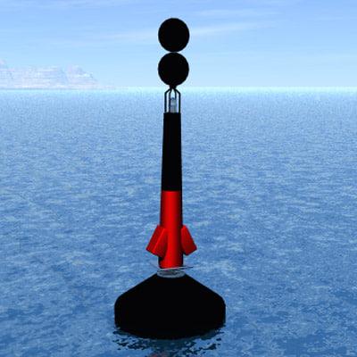 3d model buoy boia perigo isolado