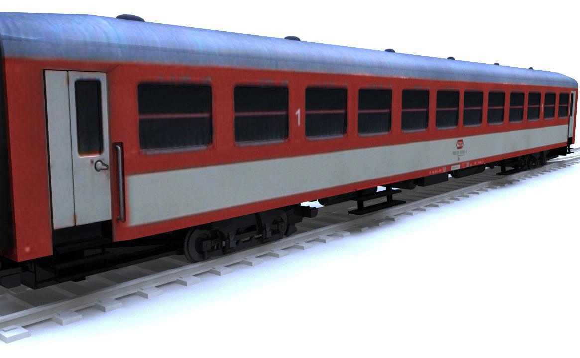 3dsmax train carriage passenger