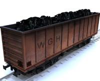3d train cargo model