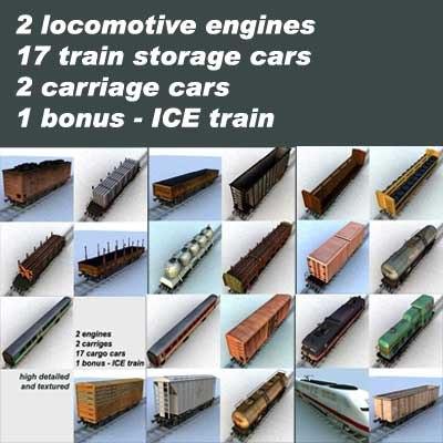 3d model engines train
