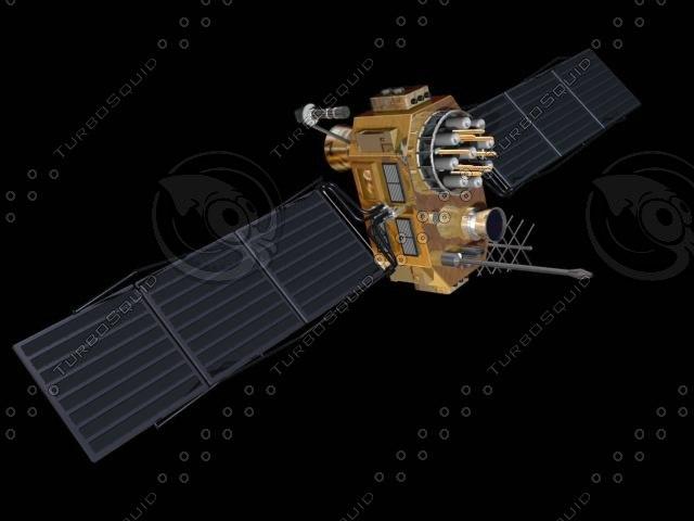 3d model satellite gps