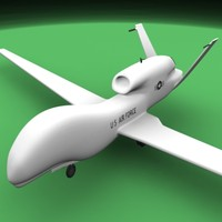 3d global hawk uav spy plane model