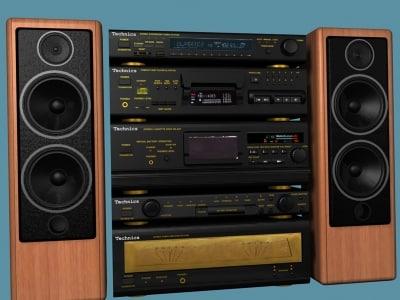 music stereo recorder 3d model