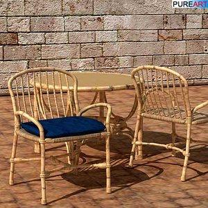 3d model chair mos
