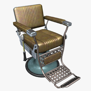 barber chair hair 3d model