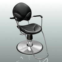 chair styling hair 3d model