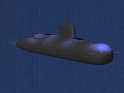 russian akula typhoon class 3d model