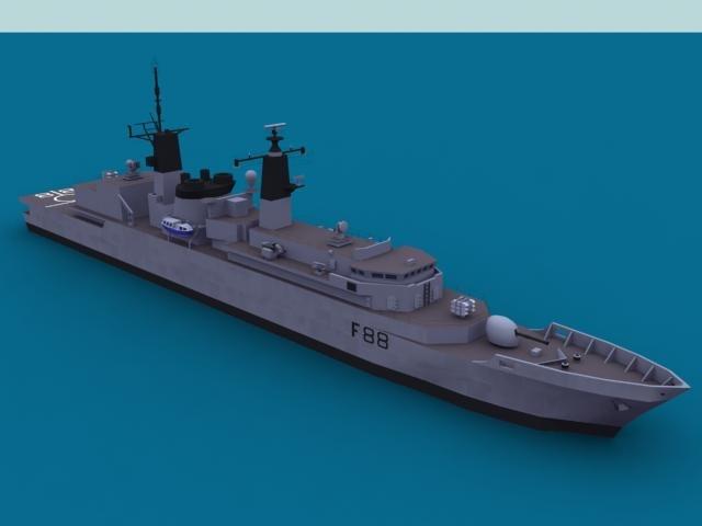 navy frigate 3d model