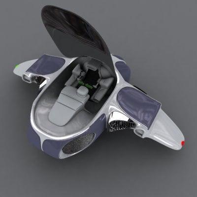 3d model of mini ship