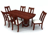 3dsmax dining table