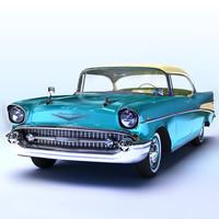 3d 1957 chevrolet model