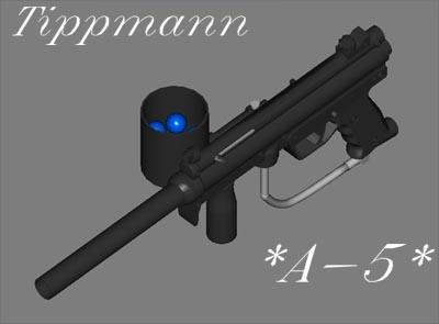 tippmann a-5 paintball guns 3d model