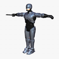 robocop science fiction 3d model