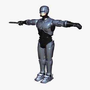 robocop science fiction 3d model