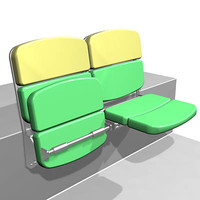 stadium chair 3d model