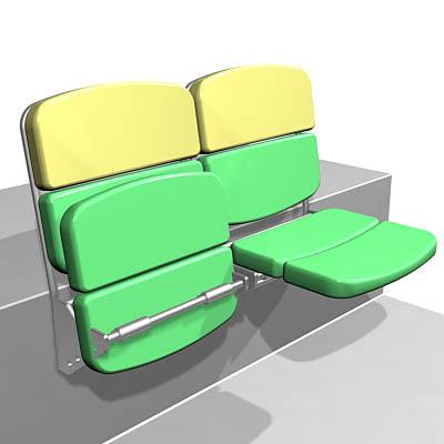 stadium chair 3d model