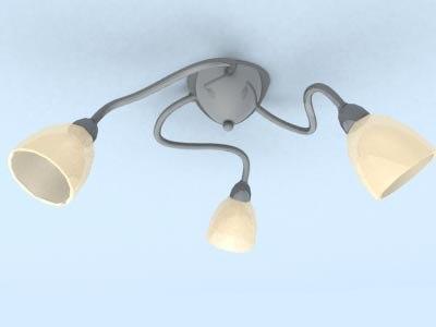 3d lamp metal