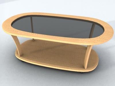 3d model table beech