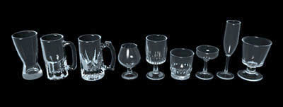 bar glassware glasses 3d c4d