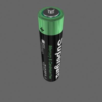battery supergard 3d model
