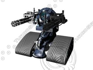 3d robot spacestargun