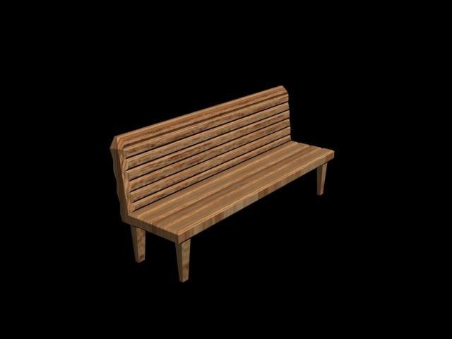 park chair 3d max