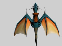3d model dragon realtime games