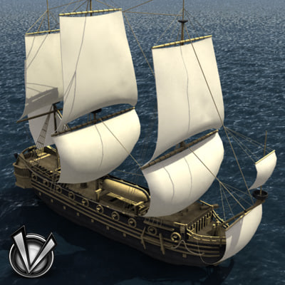 3d model ship frigate