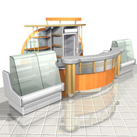 3d bar cafe interior model
