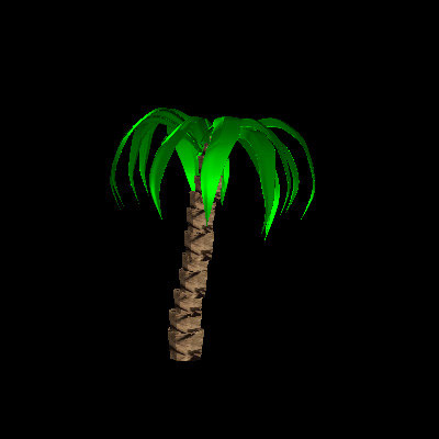 3d palmtree wrl model