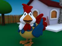 3d model of ave pollo