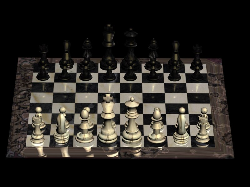3ds max complete marble chess