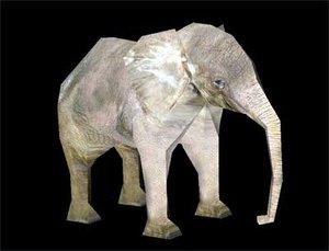 3d elephant model