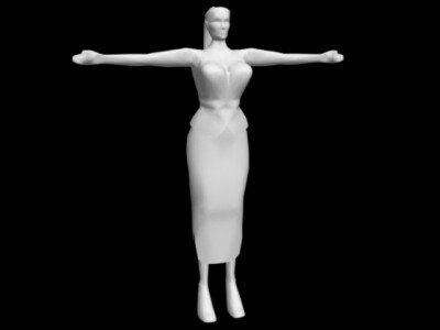3d character realtime animation model