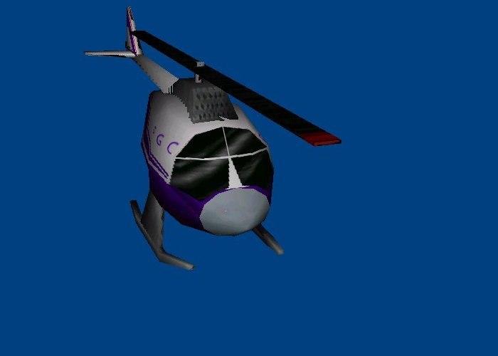 3d model copter civilian