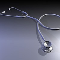 doctor stethoscope 3d model