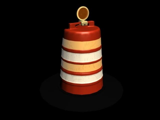 construction barrel 3d model