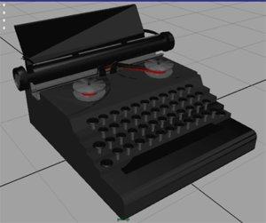 3d model typewriter type