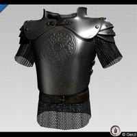 medieval fantasy half-plate armor 3d model