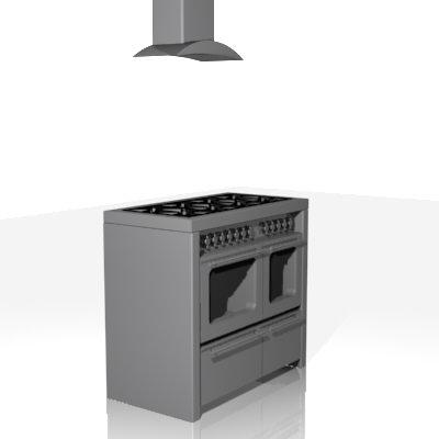 cooker 3d max