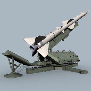 s-75 missiles sa-2 3d model